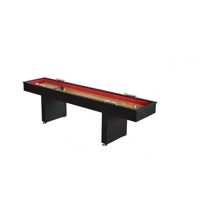Carmelli Avenger 9-ft Recreational Black & Red Shuffleboard Table (NG1203)