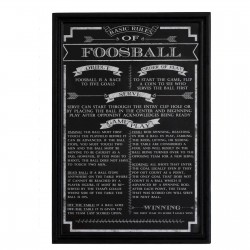 Carmelli Foosball Game Rules Wall Art - (NG2029FB)