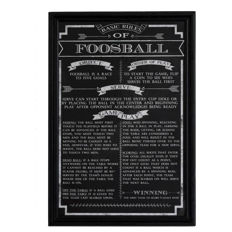 Carmelli Foosball Game Rules Wall Art - (NG2029FB)