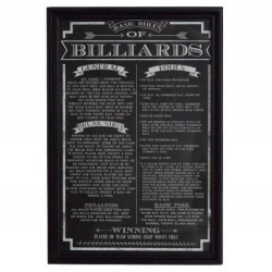 Carmelli Billiard Game Rules Wall Art (NG2029BL)
