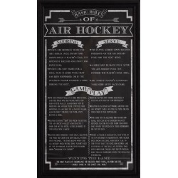 Carmelli Air Hockey Game Rules Wall Art (NG2029AH)