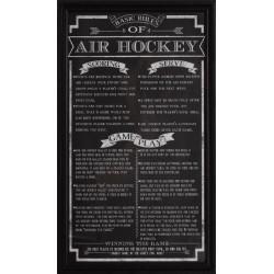 Carmelli Air Hockey Game Rules Wall Art (NG2029AH)