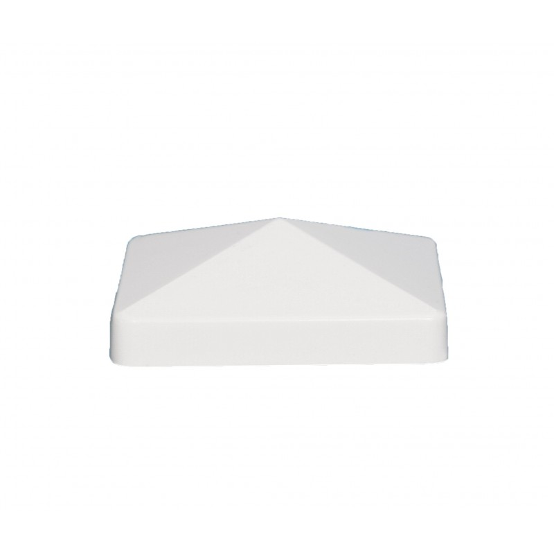 Classy Caps 4x4 Pyramid Pvc Post Cap - White (PF744)