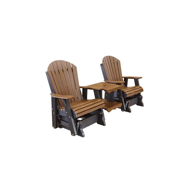 Little Cottage Co. Heritage Double Rock-A-Tee Glider Chairs (LCC-108)