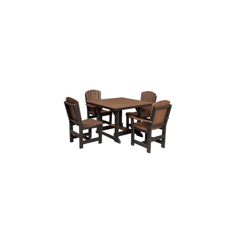 Little Cottage Co. Heritage 44x44 Dining Table w/ 4 Chairs (LCC-186)