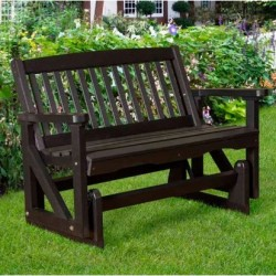 "Little Cottage Co. Classic Mission 48"" Bench Glider (LCC-207)"