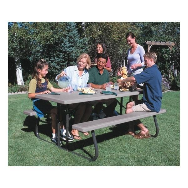 Folding Picnic Table Putty 22119  C2 B Ft Folding Picnic Table Putty 22119