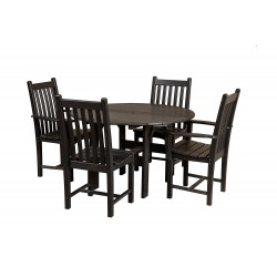 "Little Cottage Co. Classic 46"" Round Dining Table w/4 Dining Chairs (LCC-283)"