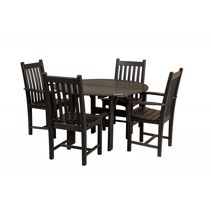 """Little Cottage Co. Classic 46"""" Round Dining Table w/4 Dining Chairs (LCC-283)"""