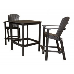 "Little Cottage Co. Classic 42"" High Dining Table with 2 (30"" High) Dining Chairs (LCC-286)"