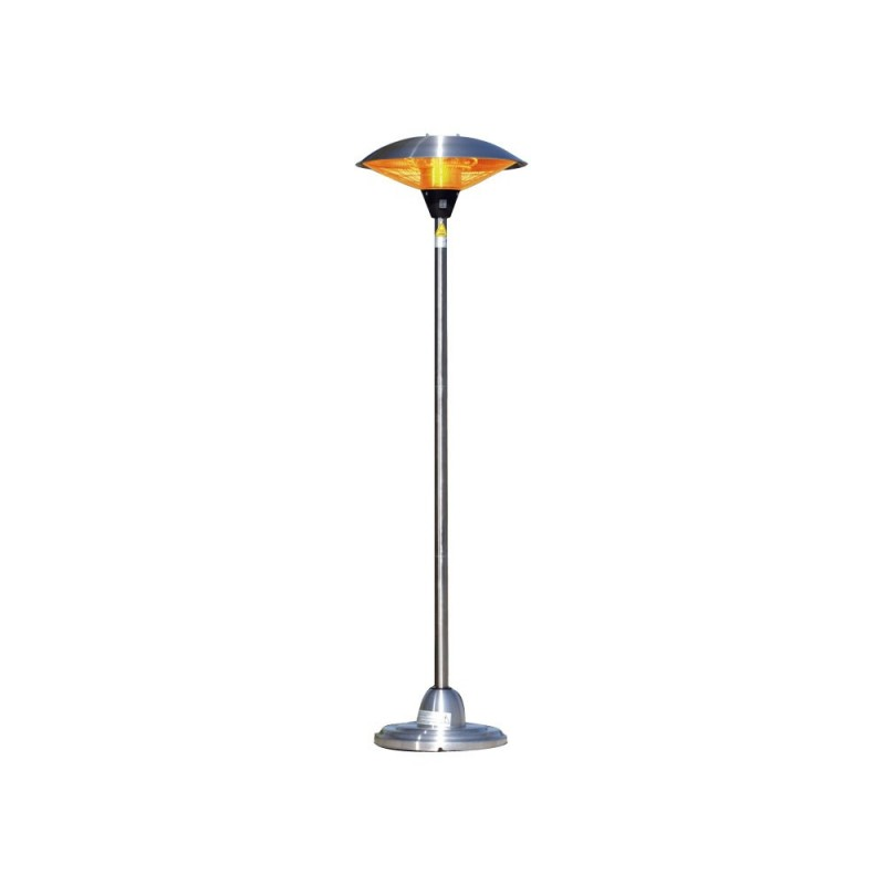 Fire Sense Stainless Steel Floor Standing Round Halogen Patio Heater (60402)