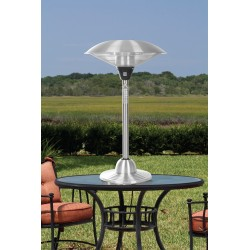 Fire Sense Stainless Steel Table Top Round Halogen Patio Heater (60403)