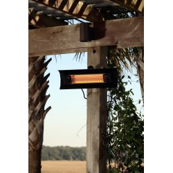 Fire Sense Black Steel Wall Mounted Infrared Patio Heater (60460)