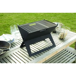 Fire Sense Black Notebook Charcoal Grill (60508)