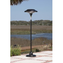 Fire Sense Hammered Bronze Floor Standing Round Halogen Patio Heater (60514)