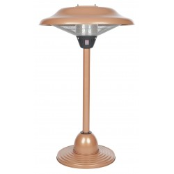 Fire Sense Copper Finish Table Top Round Halogen Patio Heater (60659)