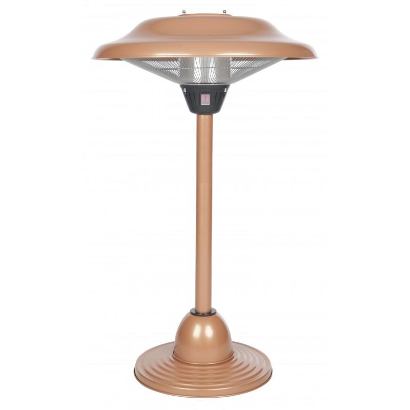 Fire Sense Copper Finish Table Top Round Halogen Patio Heater (60659)