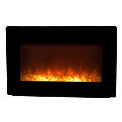Fire Sense Black Wall Mounted Electric Fireplace (60757)