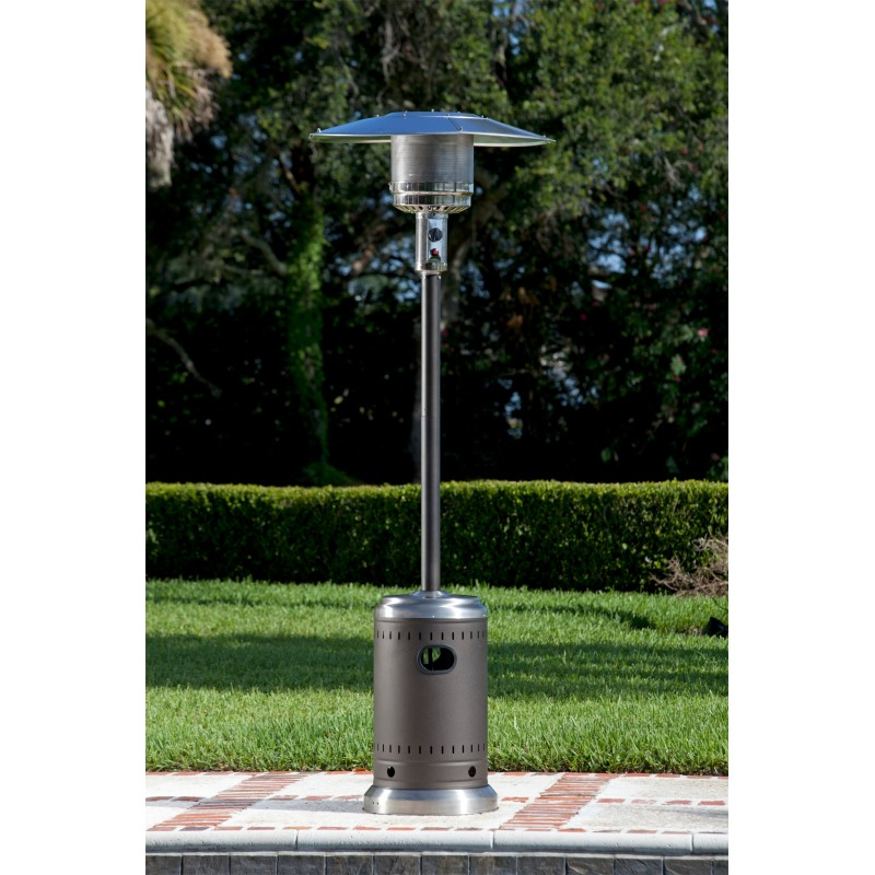 Fire Sense Mocha And Stainless Steel Commercial Patio Heater (61185)