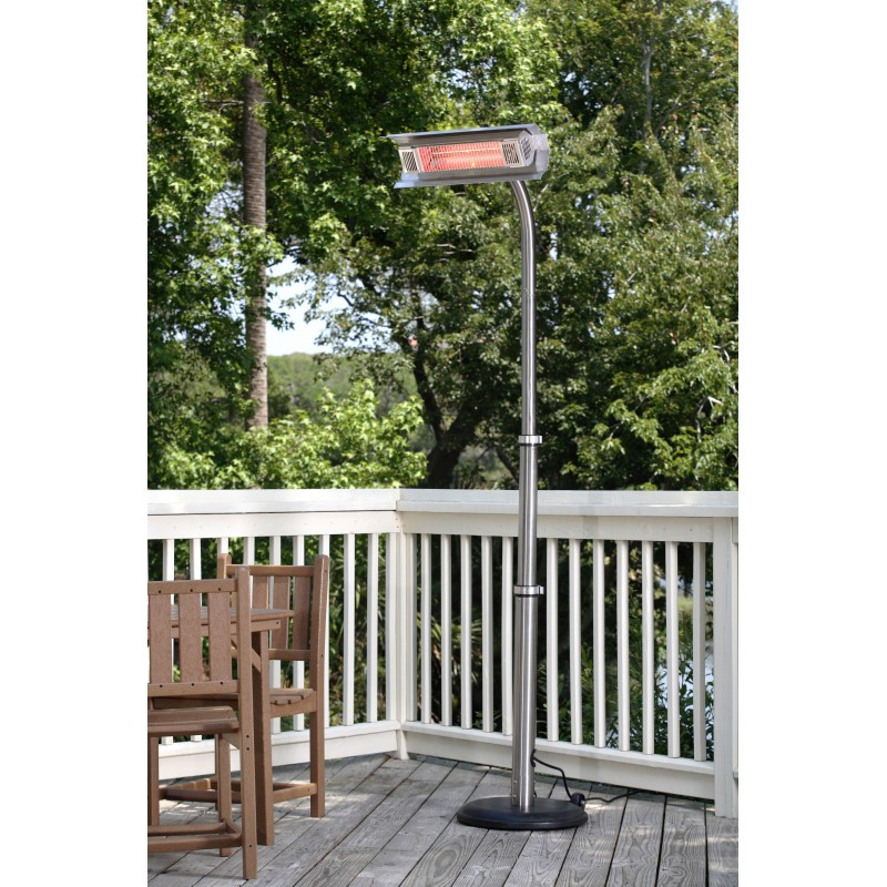 Fire Sense Stainless Steel Telescoping Offset Pole Mounted Infrared Patio Heater (02117)