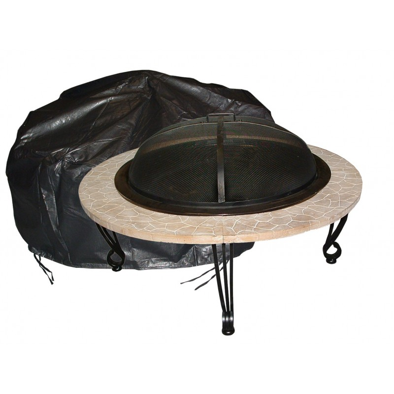Fire Sense Large Outdoor Round Fire Pit Vinyl Cover (02126)