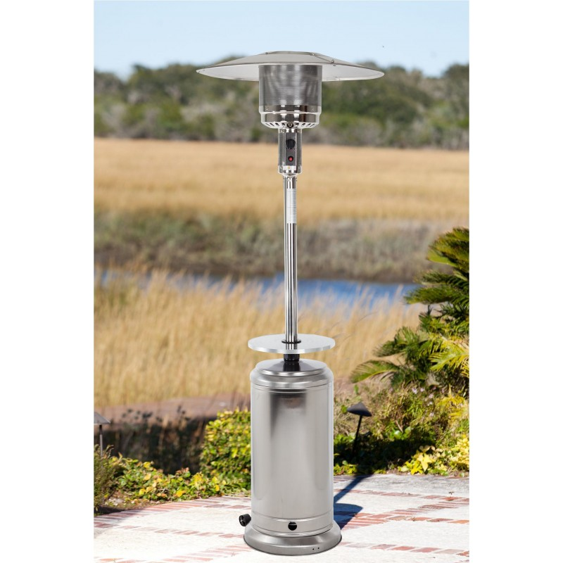 Fire Sense Stainless Steel Standard Series Patio Heater With Adjustable Table (61731)