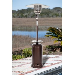 Fire Sense Hammered Bronze Standard Series Patio Heater With Adjustable Table (61732)