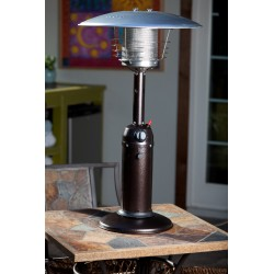 Fire Sense Hammered Bronze Finish Table Top Patio Heater (61322)