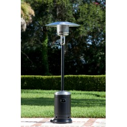 Fire Sense Hammered Tone Black & Stainless Steel Commercial Patio Heater (61444)