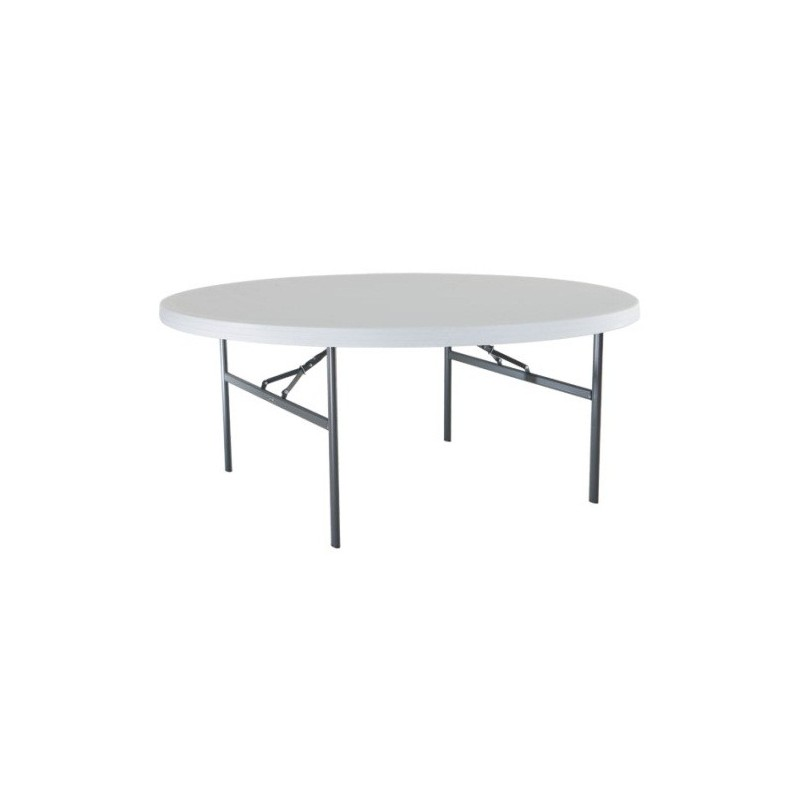 Lifetime 72 in. Commercial Round Banquet Table 4 Pack (White) 42673