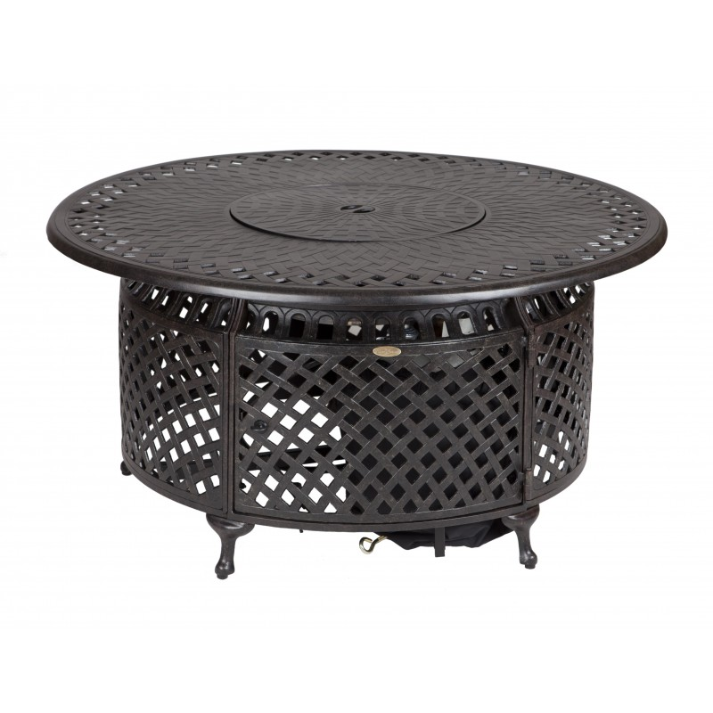 Fire Sense Venza Cast Aluminum Round LPG Fire Pit (62082)
