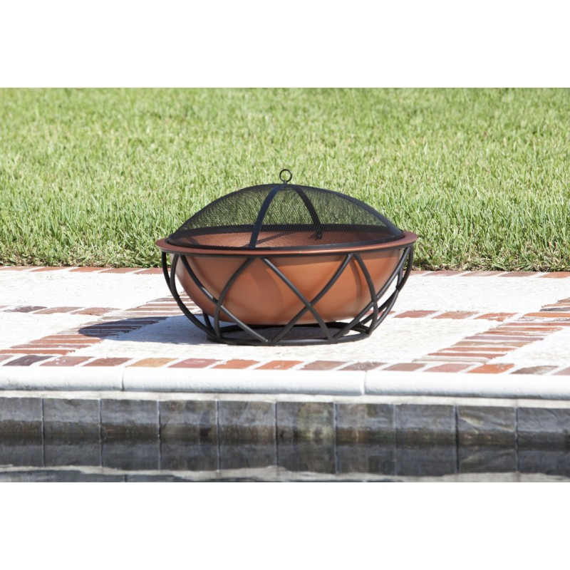 Fire Sense Barzelonia Round Copper Look Fire Pit (62241)
