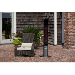 Fire Sense Aspen Tower Floor Standing Halogen Patio Heater (62233)