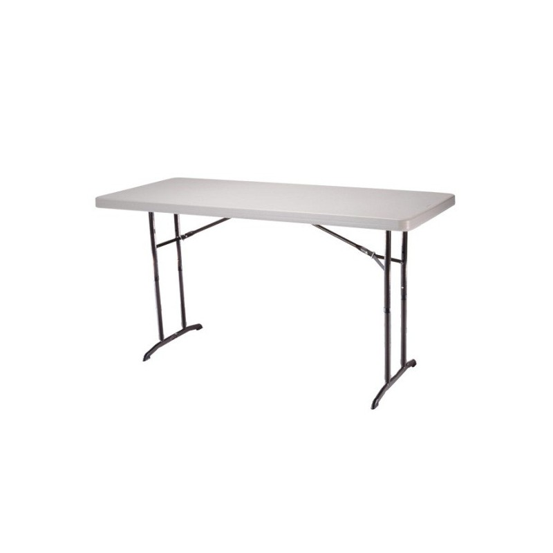 Lifetime 6 ft. Commercial Adjustable Height Folding Table 4 Pack (Almond) 42920
