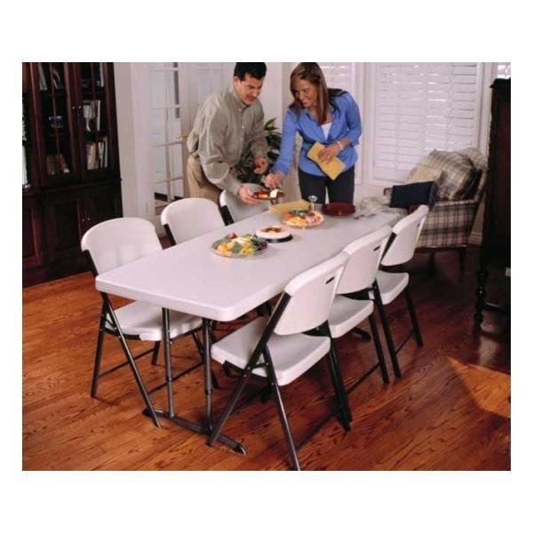 adjustable height folding table 6 foot 2