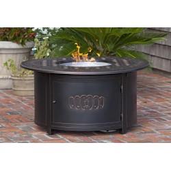 Fire Sense Dynasty Round Cast Aluminum LPG Fire Pit (62262)
