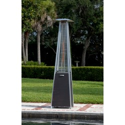 Fire Sense Coronado Brushed Bronze Pyramid Flame Patio Heater (62263)