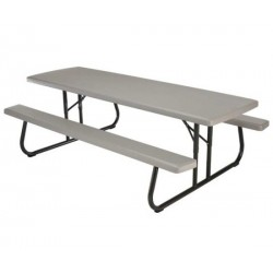 Lifetime 8 ft. Folding Picnic Table 4 Pack (Putty) 480123