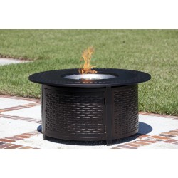 Fire Sense Bellante Woven Cast Aluminum LPG Fire Pit (62195)
