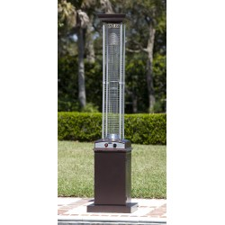 Fire Sense Hammered Bronze Finish Square Flame Patio Heater (62224)