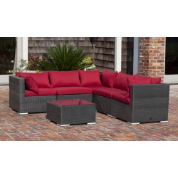Fire Sense Sino Wicker Sofa Set (62173)