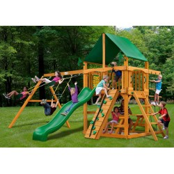 Gorilla Playset Chateau Swing Set w/ Amber Posts (01-0003-AP-1)