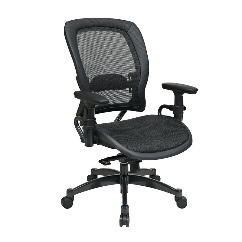 Space Seating Professional Black Breathable Mesh Chair (2787)