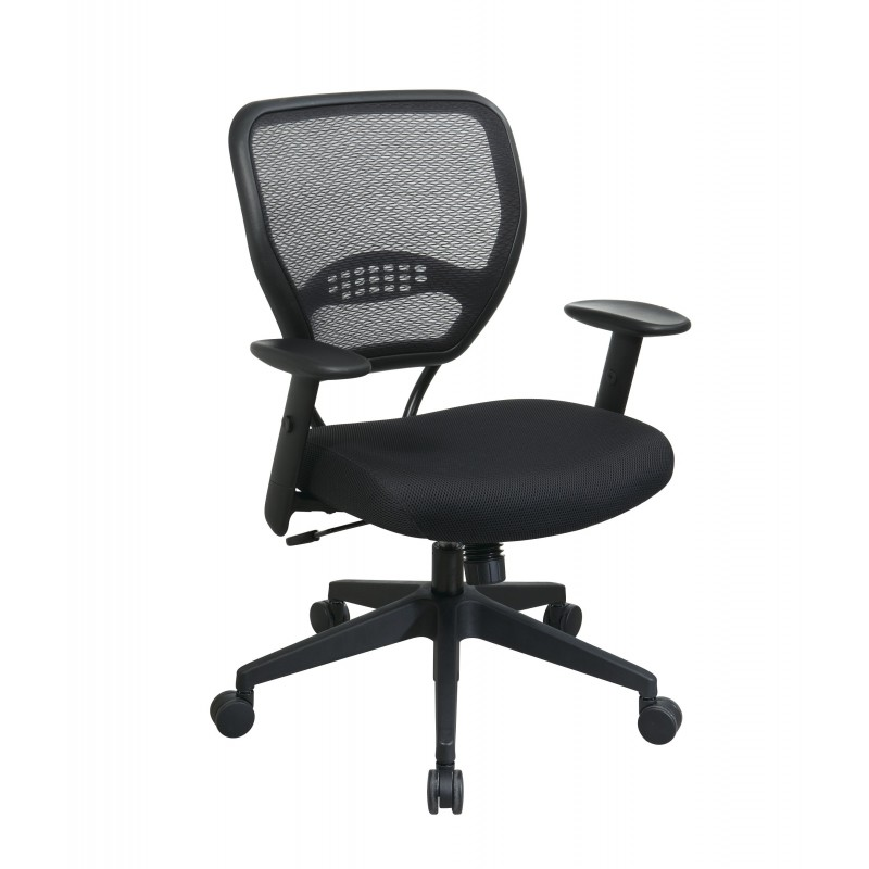 Space Seating Professional Black AirGrid Back Managers Chair (5500)