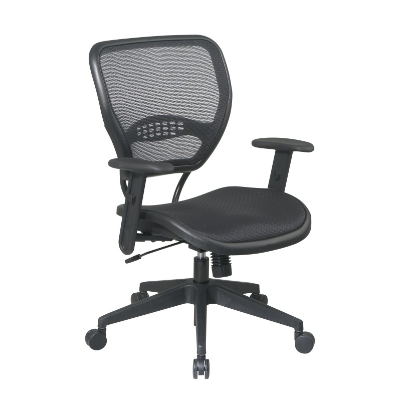 Space Seating Black AirGrid Seat and Back Deluxe Task Chair (5560)