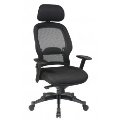 Space Seating Professional Deluxe Black Breathable Mesh Back Chair (25004)