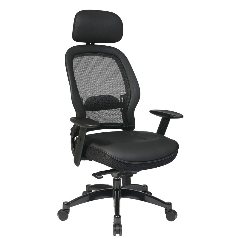 Space Seating Professional Black Breathable Mesh Back Chair (27008)