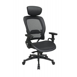Space Seating Professional Breathable Mesh Black Chair (27876)