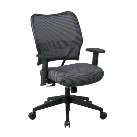 Space Seating Deluxe Chair with Charcoal VeraFlex Back and VeraFlex Fabric Seat (13-V44N1WA)