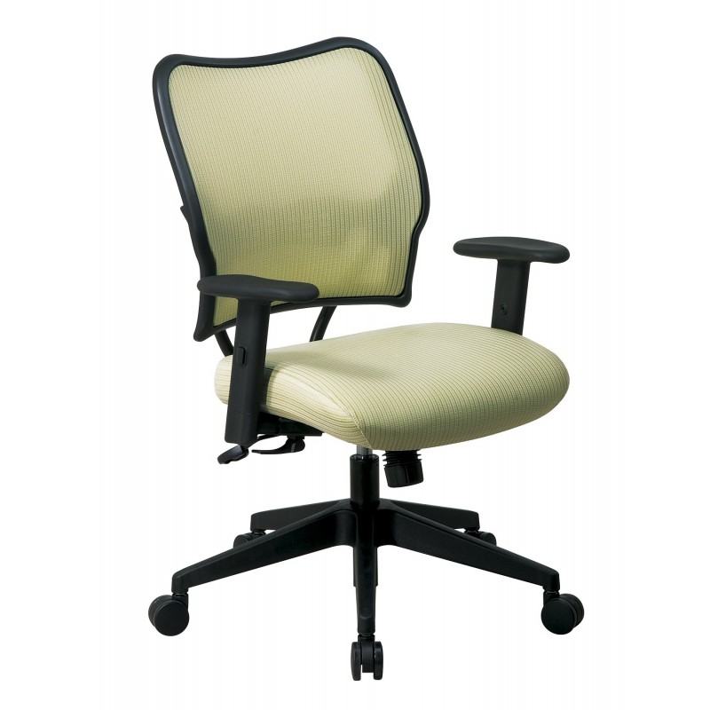 Space Seating Deluxe Chair with Blue Mist VeraFlex Back and VeraFlex Fabric Seat (13-V77N1WA)